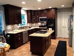 Dark Stained Kitchen Cabinets by Dark Maple Kitchen Cabinets Redtinku
