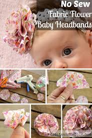 headband baby fabric flower baby headbands create and babble