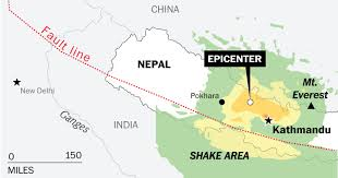 map of nepal and india nepal s earthquake mapping its ripple effect across