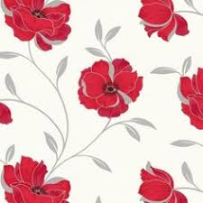 grey wallpaper with red flowers gray and cream wallpaper border red silver grey white