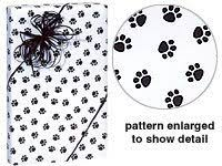 black gift wrapping paper roll trendy paw print black white gift wrap wrapping