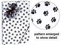 paw print tissue paper trendy paw print black white gift wrap wrapping