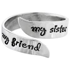 sister site my sister my friend adjustable sterling ring the hunger site