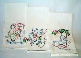 Kitchen Towel Embroidery Designs Cute Retro And Authentic Embroidery Designs Craftster Blog