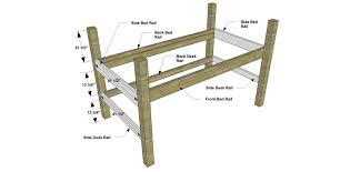 Free Designs For Bunk Beds by Free Diy Furniture Plans How To Build A Twin Sized Low Loft