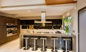 stools stunning white kitchen design with pendant lamps and