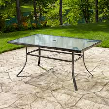 Patio Glass Table Essential Garden Fulton Dining Table Limited Availability
