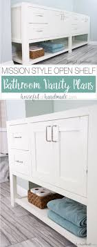 Build Your Own Bathroom Vanity Cabinet Mission Style Open Shelf Bathroom Vanity Build Plans
