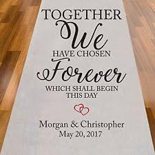 personalized aisle runner wedding aisle runners ebay