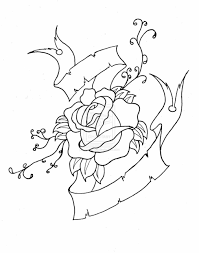 skull roses and pistol tattoo designs photos pictures illustration