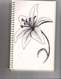 drawing of lily flower how to draw a lily flower youtube drawing