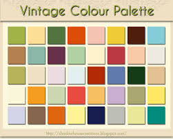 shadowhouse creations vintage colour palette color my world