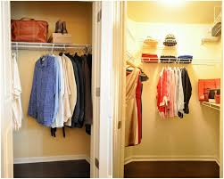 wall mounted closet for small bedroom with wire clothes hanger
