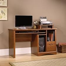 Sauder Registry Row Desk Amazon Com Sauder Computer Desk Cinnamon Cherry Finish Kitchen