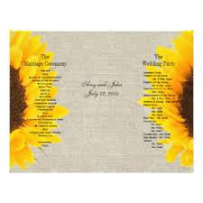 Sunflower Wedding Programs Sunflower Wedding Flyers Zazzle Com Au