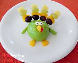 gobble gobble up some turkey fruit kitchen with my 3 sons
