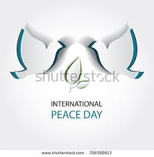 international day peace vector illustration white stock vector