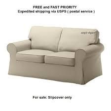 Slipcovered Loveseat Ikea Ektorp Tygelsjo Beige Loveseat Slipcover 2 Seat Sofa Cover