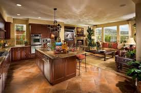 open concept kitchen living room floor plans