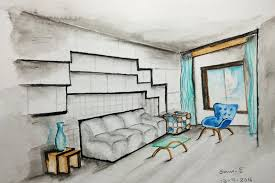 interior sketches interior design sketches one point perspective time lapse