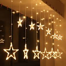 Patio Party Decorations Aliexpress Com Buy Five Pointed Star String Lights Christmas