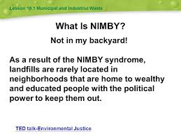 Not In My Backyard Waste Management 19 Chapter Ppt Video Online Download