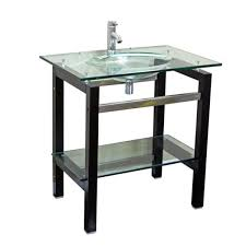 Glass Top Vanity Bathroom by Glass Top 24 Inch Single Sink Bathroom Vanity With Mirror And