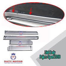 All New Pajero Sport List Kap Mobil Depan Molding Chrome list all new pajero sport 2016 plastik chrome aksesoris