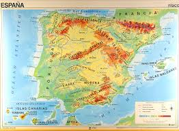 physical map of spain map of spain in overview