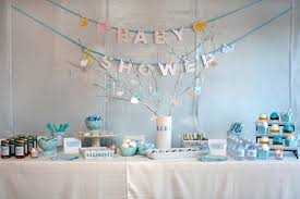 blue baby shower baby blue and white gingham dessert bar the umbrella