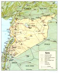 map of syria maps of syria