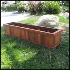 mendocino redwood planter wood planter boxes planters unlimited