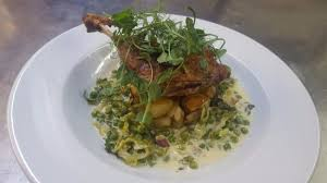 cuisine petit pois confit duck with petits pois a la picture of odfellows