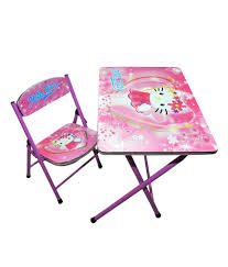 happy kids foldable study table and chair hello kitty pink
