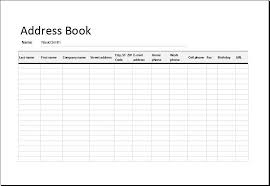 address template for word personal contacts address book template