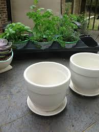 ceramic plant pots white desktop flowerpots simple style white
