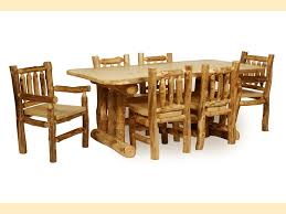 epic log dining room tables 73 in outdoor dining table with log