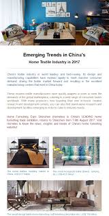 Trends In Home Design Emerging Trends In Home Textile Industry Of China 2017 Home