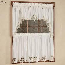 Country Lace Curtains Catalog Battenburg Lace Edge Tier Window Treatment