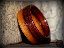 unique wood bentwood ring striped kingwood classic wood ring bentwood
