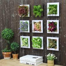 3d artificial plant simulation flower frame wall decor home garden