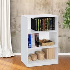 White Open Bookcase White Open Bookcase Monarch Specialties White Open Concept