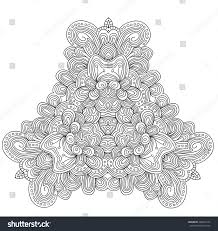 black white abstract pattern leaves flowers stock illustration
