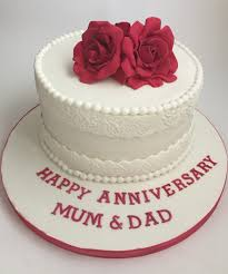 wedding anniversary cakes wedding anniversary roses eggless cake