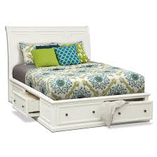 Bedroom Furniture With Storage Underneath The Beautiful Vintage Impression White King Bed Design Ideas