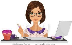 image de secretaire au bureau illustration secrétaire bureau image vectorielle secrétaire bureau