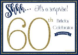 60th Birthday Invitation Card Free Printable 60th Birthday Invitation Templates U2013 Golden