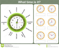 telling time worksheet write the time shown on the clock stock