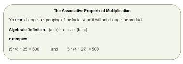 associative property in algebra