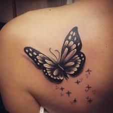 free black butterfly on butterfly